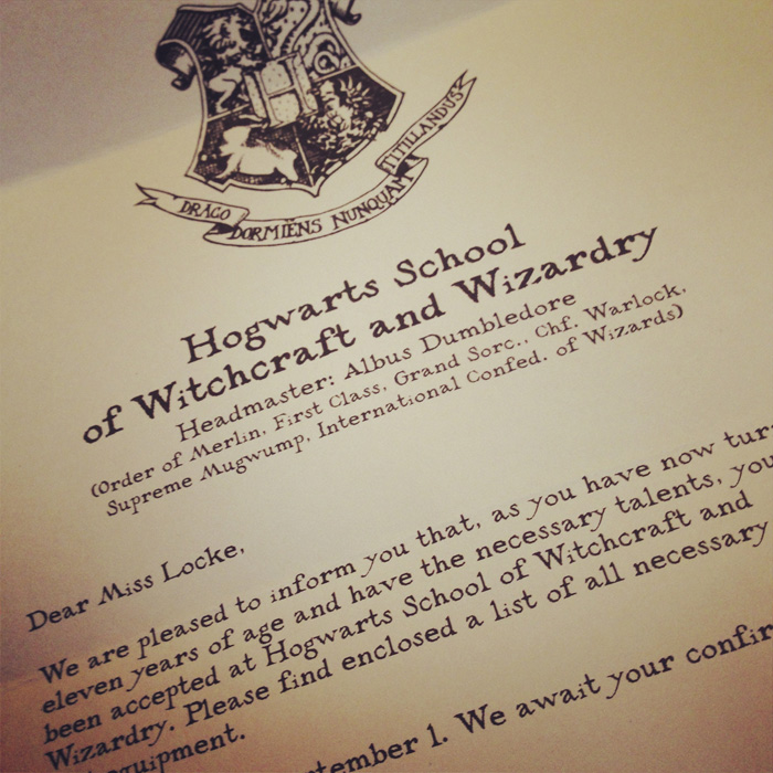 graphic relating to Hogwarts Letter Printable called Youve Been Accredited In direction of Hogwarts Sean Locke Images
