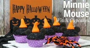 Halloween Minnie Mouse Witch Cupcakes