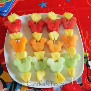 Mickey Mouse Fruit Kebabs