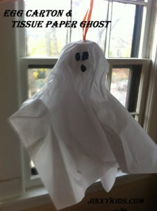 Egg Carton & Tissue Paper Ghost