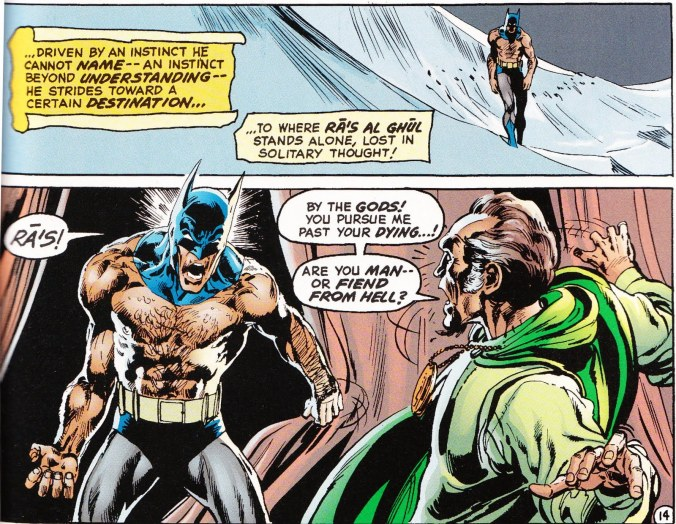 Batman #244, September 1972, with pencils by Neal Adams