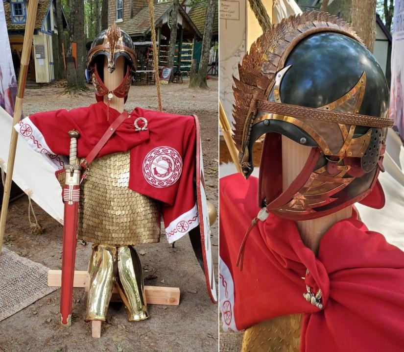 Excalibur and Arthur's Armor.
