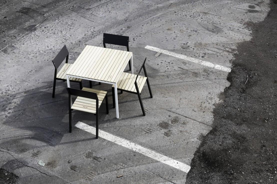 Table CORA Carre 86 Cm Pour Salon De Jardin En Mtal
