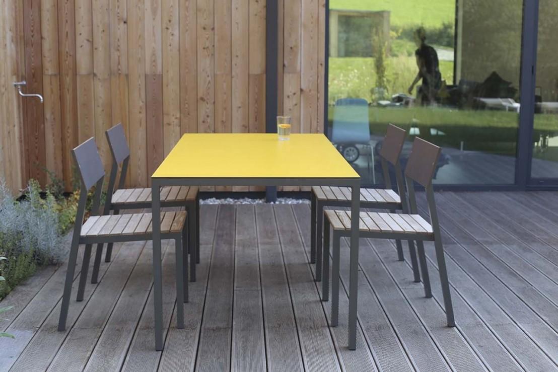 Salon De Jardin CORA Table Rectangle 175 Cm Et 4 Chaises