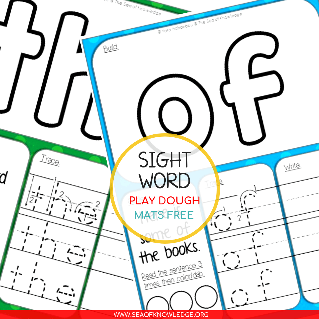 Amazing Sight Word Play Dough Mats To Try With Kids Right
