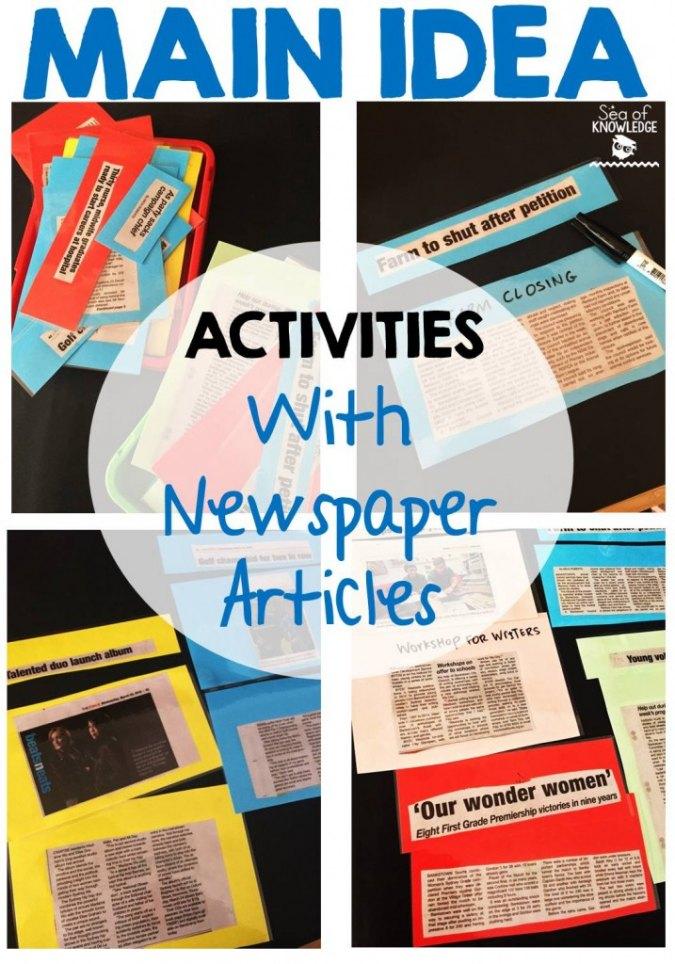 MainIdeaActivitieswithNewspapers