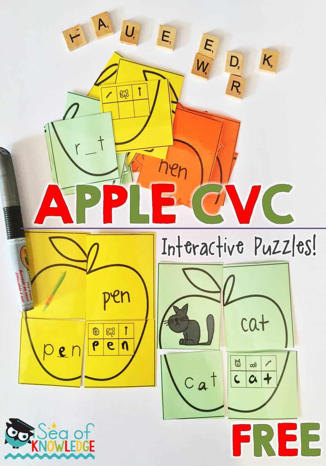 Cvc Words Interactive Puzzles I Teach K 2 Linky