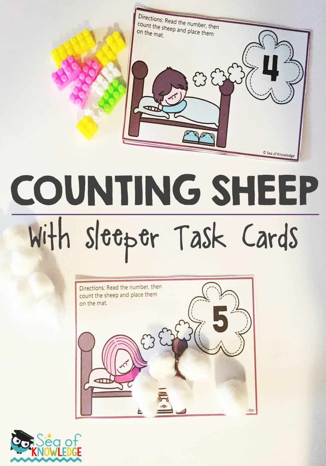 Sensory Counting Sheep Activity Numbers To Ten