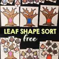 Leaf Shape Sorting Activity Free ITeach K-2 Linky