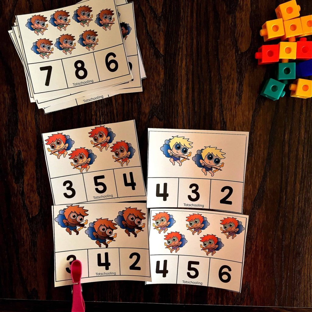 Valentine S Day Counting Clip Cards