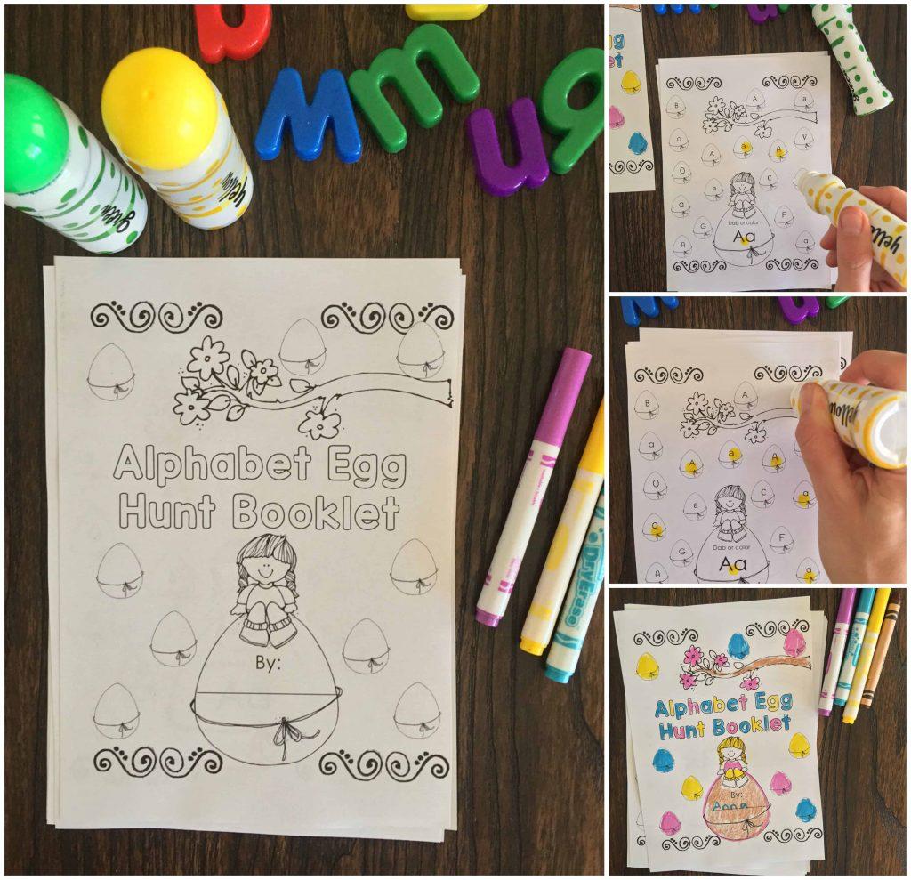 Preschool Easter Alphabet Worksheets