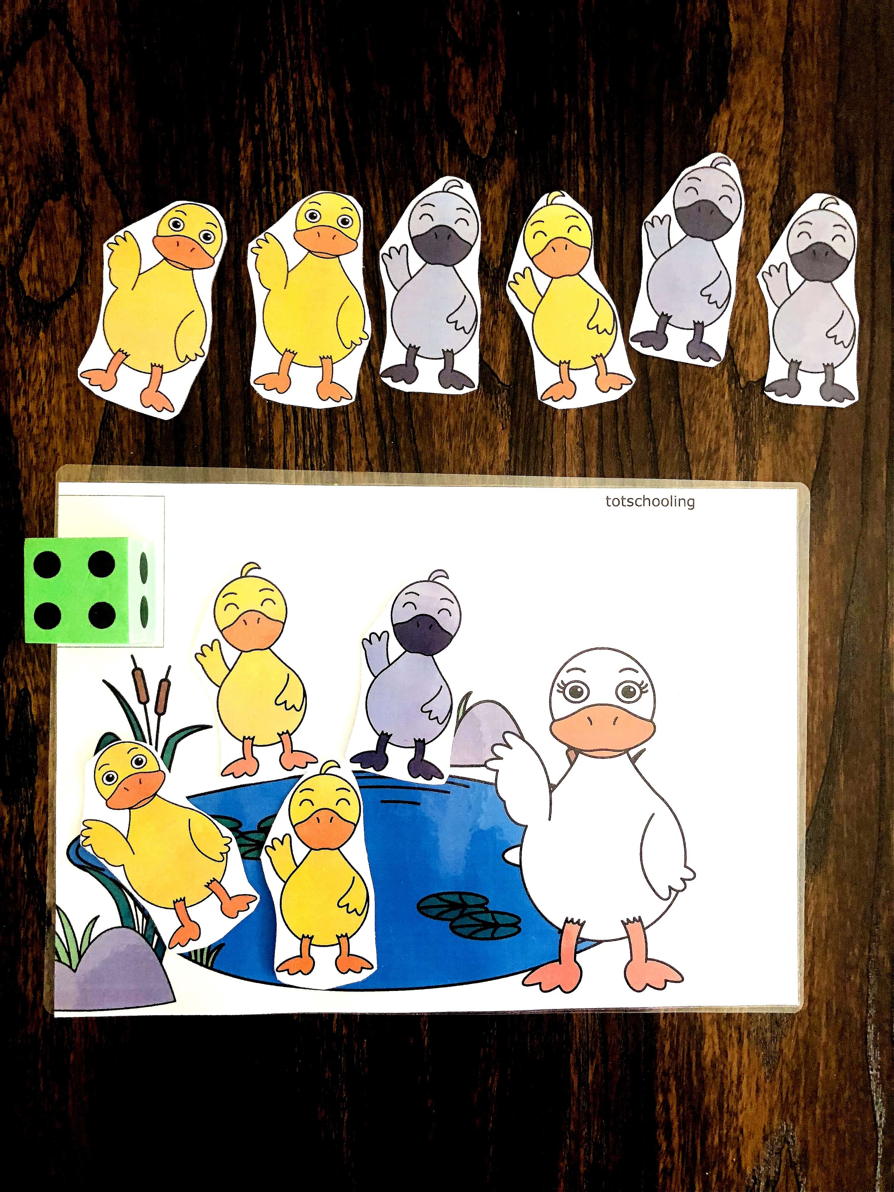 The Ugly Duckling Free Preschool Counting Mat