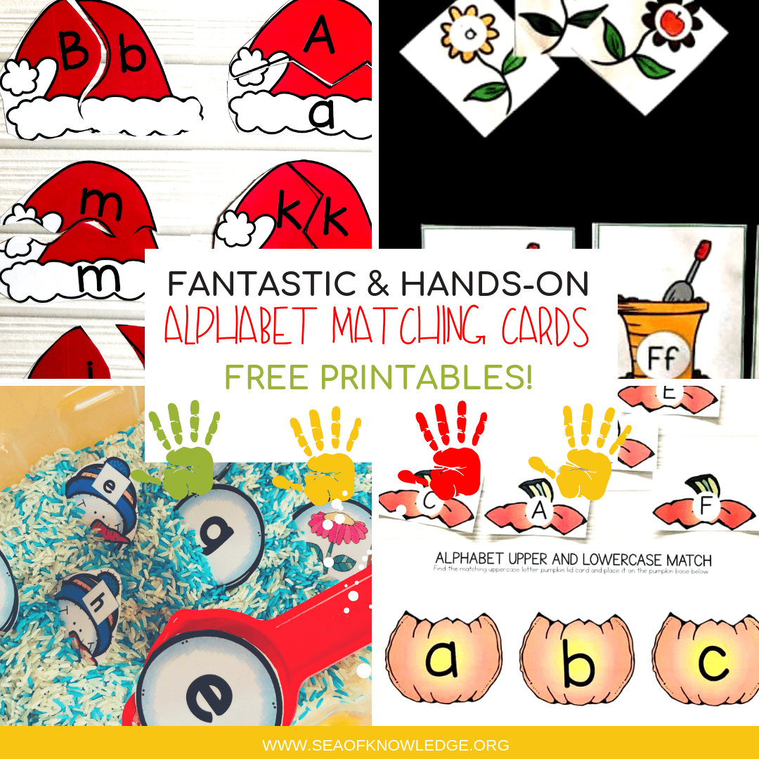 Alphabet Matching Cards Fantastic Hands On Free Printables