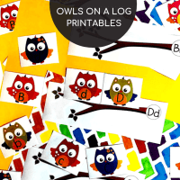 Owls Alphabet Matching Cards Hands-on Fun Printables!