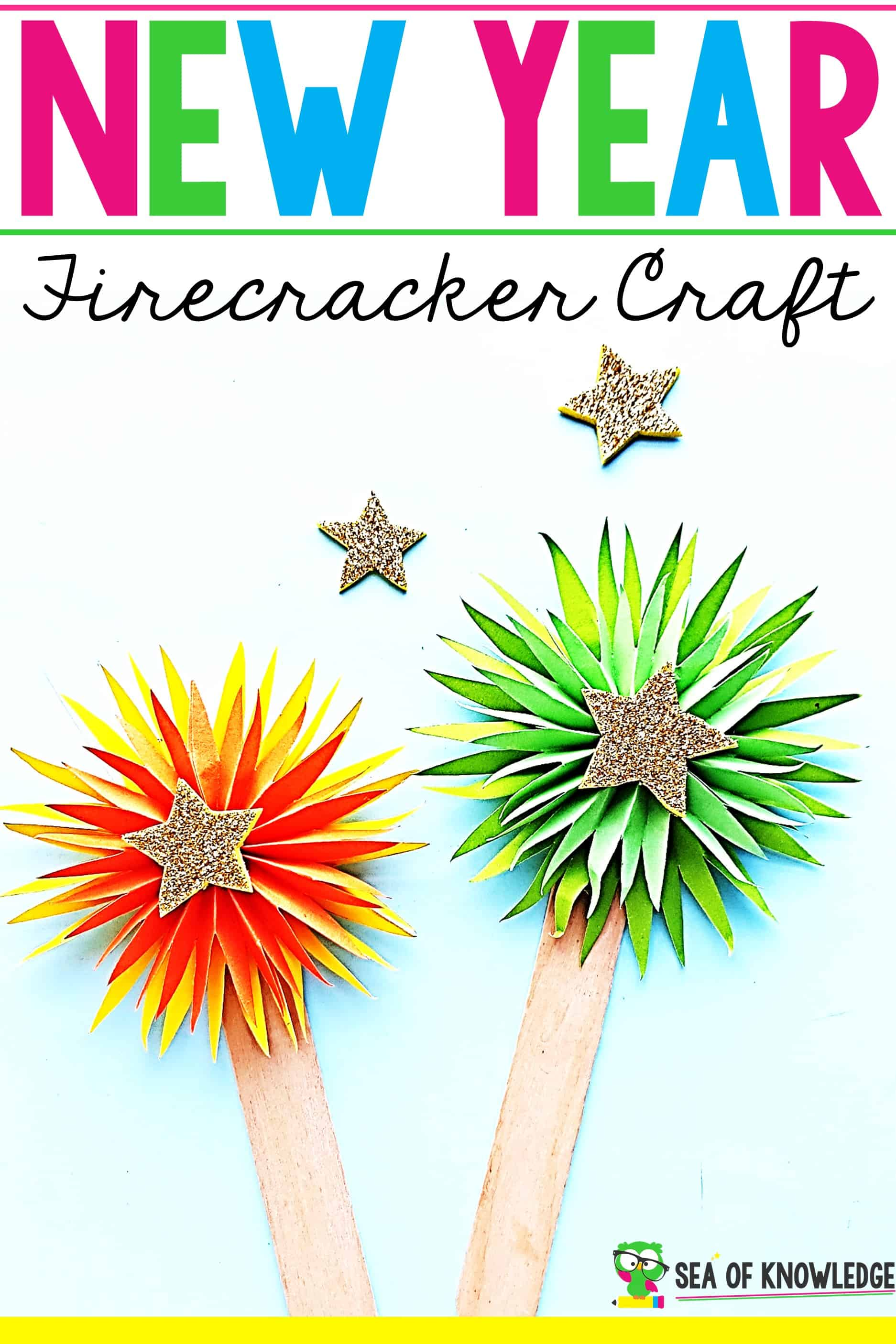 Firecracker New Year Craft for Preschoolers