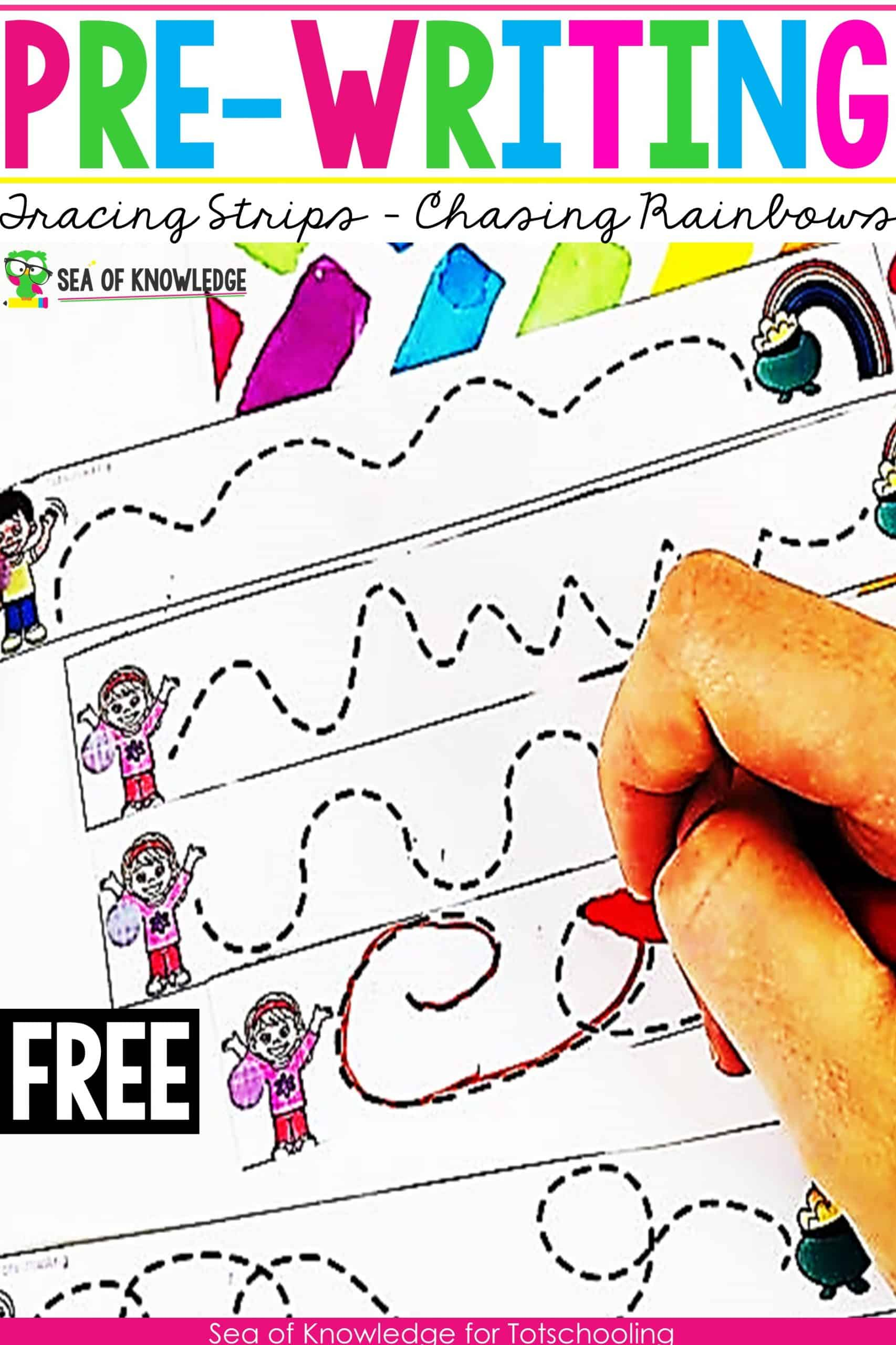 Chasing Rainbows Pre-writing Activities for Preschoolers They will LOVE