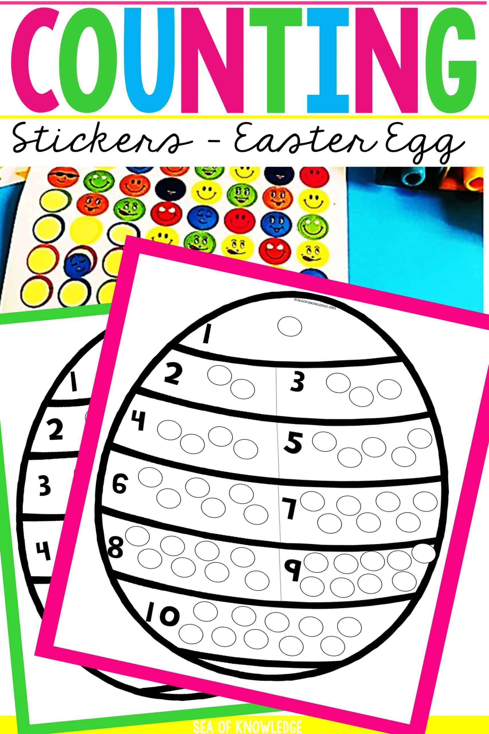 Counting 1 To 10 Dot Stickers Easter Eggs