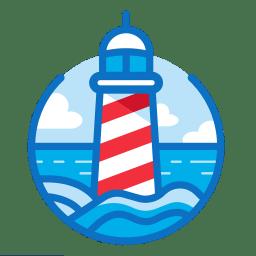 Seaport Games logo, lighthouse