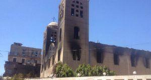 igrejas queimadas no Egito