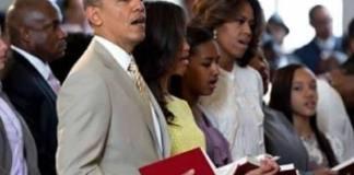 Barack Obama não adora no púlpito