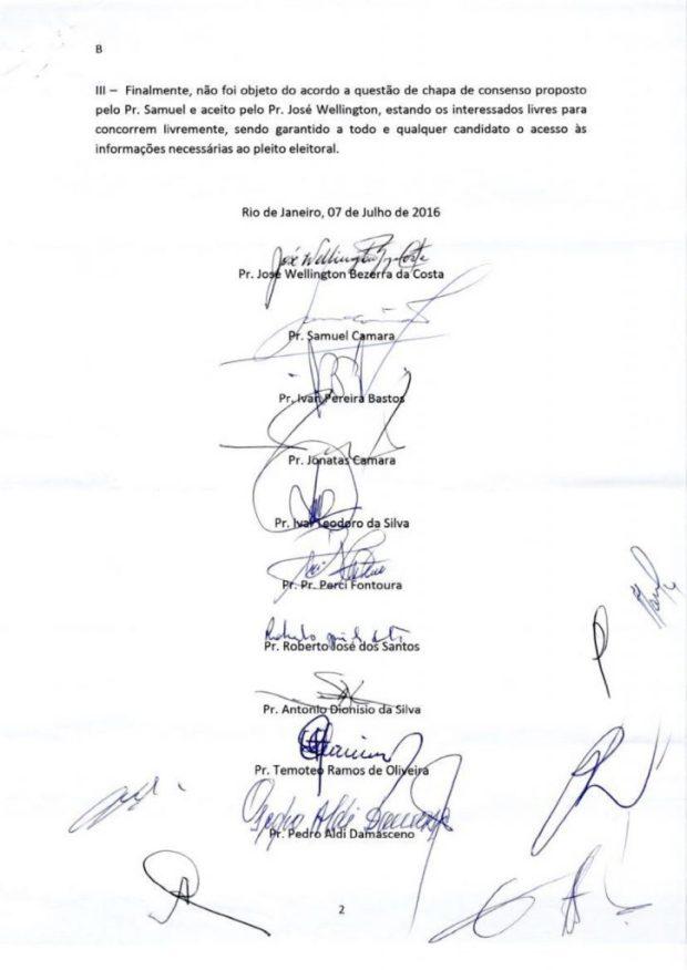 Liderança das Assembleias de Deus no Brasil selam acordo