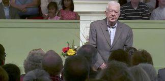 Ex-presidente Jimmy Carter é professor na escola dominical
