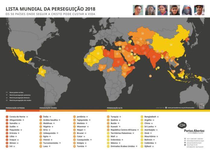 Organização cristã lança lista de países em que os cristãos são perseguidos