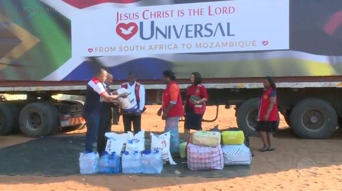 SOS Moçambique - Igreja Universal arrecada 230 toneladas de alimentos não perecíveis, água e roupas