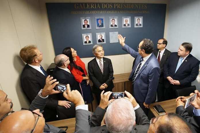 Frente Parlamentar Evangélica inaugura Galeria de Honra dos presidentes da bancada