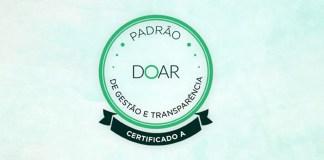 Portas Abertas recebe o Selo Doar por padrão de Gestão e transparência