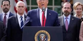 """""""Nenhum problema é grande demais para Deus"""", diz Donald Trump sobre coronavírus"""