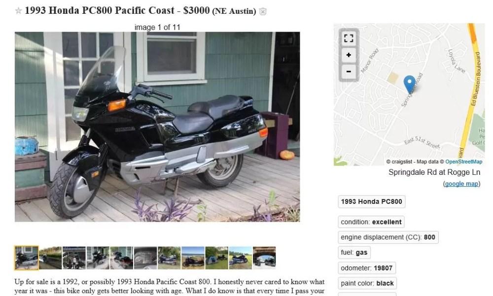 Funniest Motorcycle Ad on Craigslist