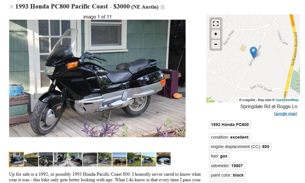 Funniest Motorcycle Ad on Craigslist - Search All Of