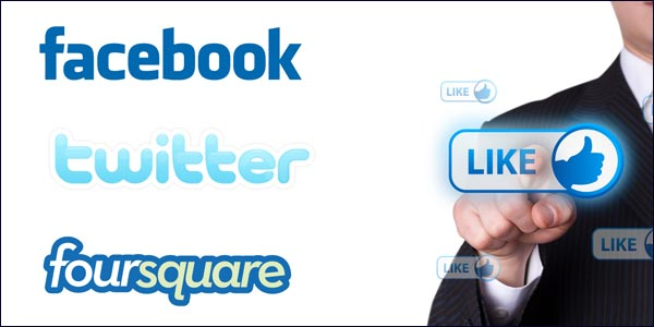 twitter facebook foursquare