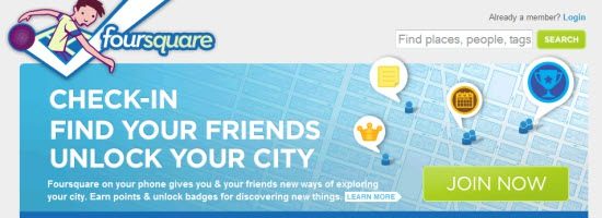 Foursqure Mobile Applications