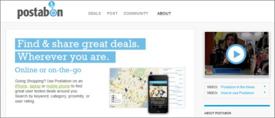 Location-Based Coupon Sites Postabon