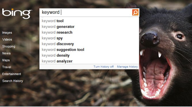 Bing Keyword Suggest