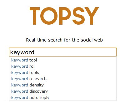 Topsy Keyword Suggest