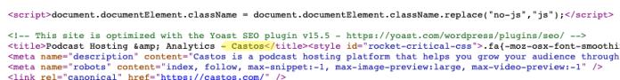 meta title on a SaaS homepage.