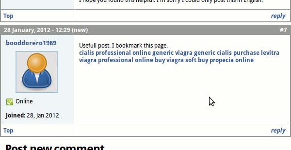 Forum spam.