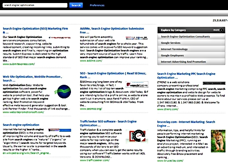 Cuil Search Results Style
