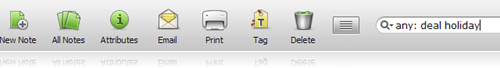 Evernote search bar