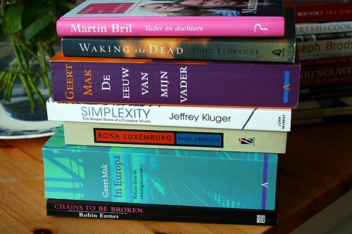 Book piles in the wild 1 by Andrew B47