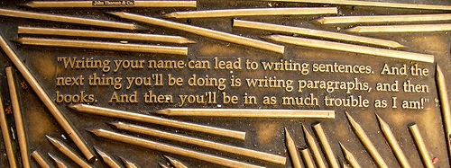 Henry David Thoreau quote - Library Way - NY City by ktylerconk