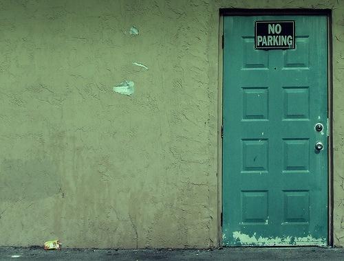 No Parking Door by Aaron Escobar  (the spaniard)