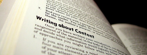 writing about content