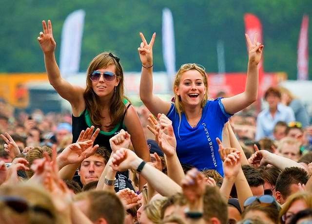 parkpop - pop concert in the Netherlands