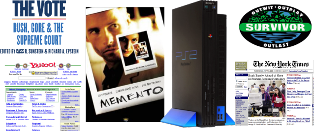 2000: Bush vs Gore, Yahoo, Memento, PS2, Survivor, NY Times