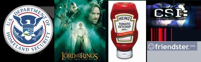 2002: Homeland Security, Lord of the Rings, Heinz, CSI, Friendster