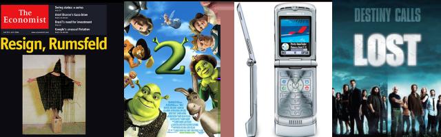2004: Abu Ghraib, Shrek 2, Motorola Razor, Lost